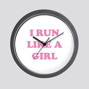 I Run Like A Girl Wall Clock