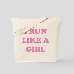 I Run Like A Girl Tote Bag