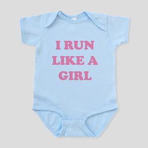 I Run Like A Girl Infant Bodysuit