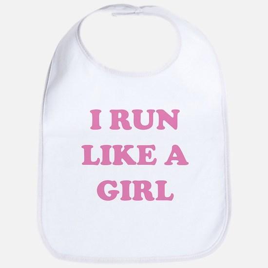 I Run Like A Girl Bib