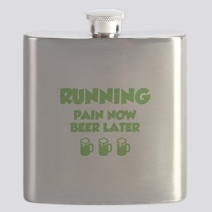 Running Pain Now Beer Later Flask