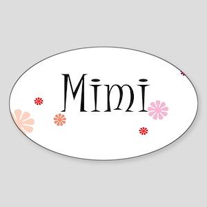 Mimi Retro Sticker (Oval)