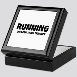 Running Cheaper Than Therapy Keepsake Box