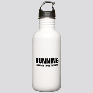 Running Cheaper Than Therapy Stainless Water Bottl