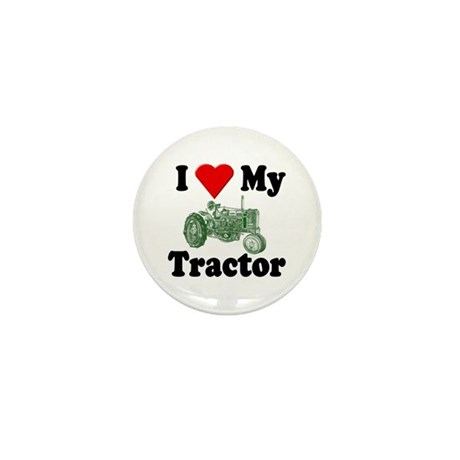 I Love My Tractor Mini Button (10 pack)