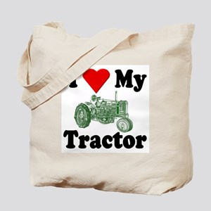 I Love My Tractor Tote Bag