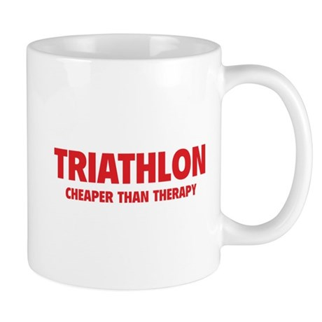 Triathlon Cheaper Than Therapy Mug