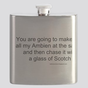 Ambien chased with Scotch Flask