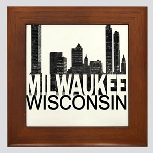 Milwaukee Skyline Framed Tile