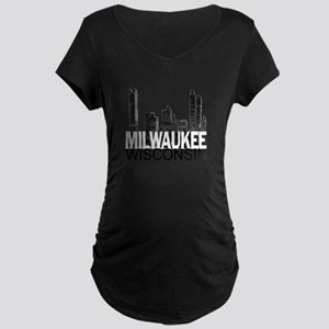 Milwaukee Skyline Maternity Dark T-Shirt