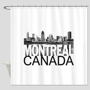 Montreal Skyline Shower Curtain