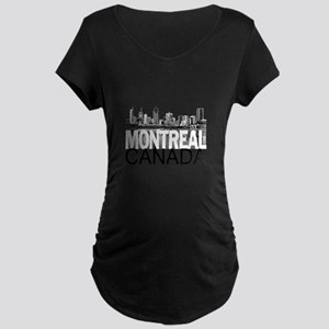 Montreal Skyline Maternity Dark T-Shirt