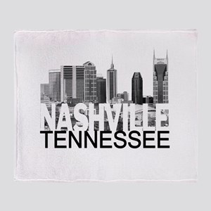 Nashville Skyline Throw Blanket