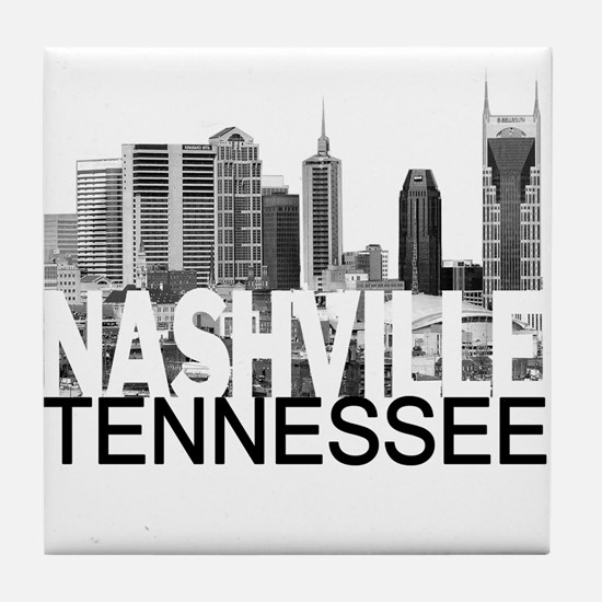 Nashville Skyline Tile Coaster