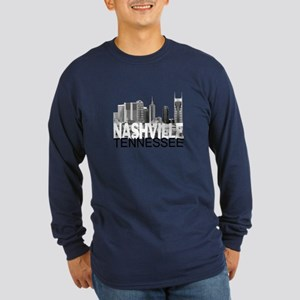 Nashville Skyline Long Sleeve Dark T-Shirt