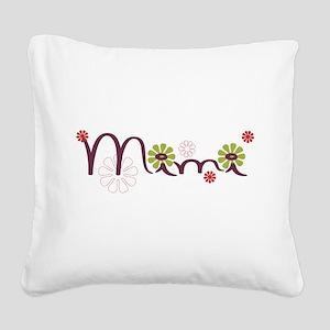 Mimi Flowers Square Canvas Pillow