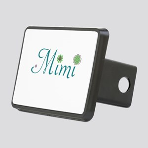 Mimi Green Flowers Rectangular Hitch Cover