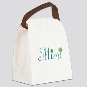 Mimi Green Flowers Canvas Lunch Bag