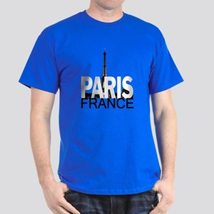Paris Skyline Dark T-Shirt