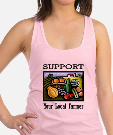 Support Your Local Farmer Racerback Tank Top