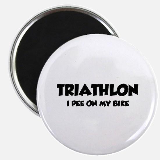 Triathlon I Pee On My Bike Magnet