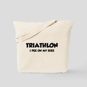 Triathlon I Pee On My Bike Tote Bag