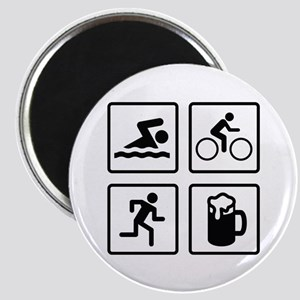 Swim Bike Run Drink Magnet