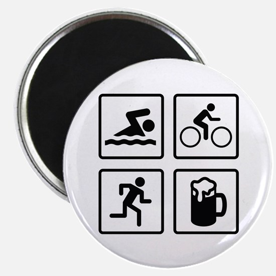 Swim Bike Run Drink Magnet