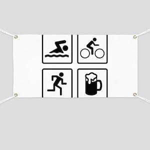 Swim Bike Run Drink Banner
