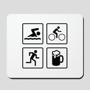 Swim Bike Run Drink Mousepad