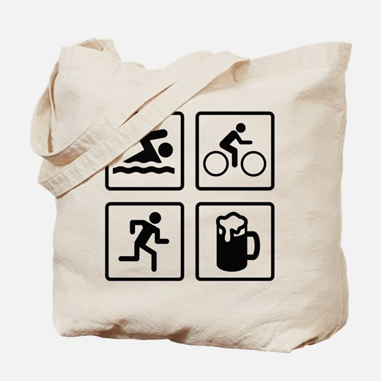 Swim Bike Run Drink Tote Bag