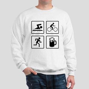 Swim Bike Run Drink Sweatshirt