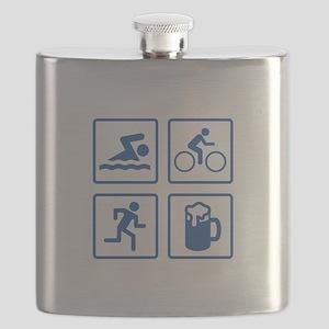 Swim Bike Run Drink Flask