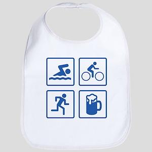 Swim Bike Run Drink Bib