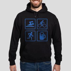 Swim Bike Run Drink Hoodie (dark)
