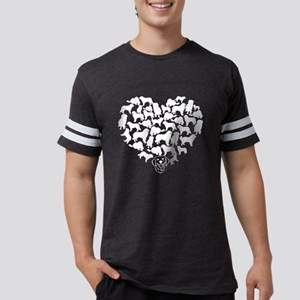 Great Pyrenees Heart T-shirt Mens Football Shirt