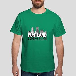 Portland Skyline Dark T-Shirt