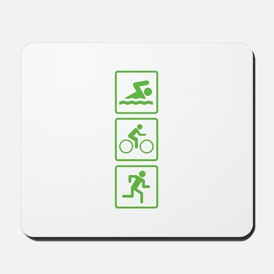Triathlon Swim Bike Run Mousepad