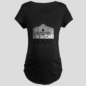 San Antonio Skyline Maternity Dark T-Shirt