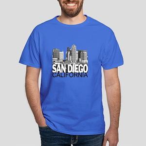 San Diego Skyline Dark T-Shirt