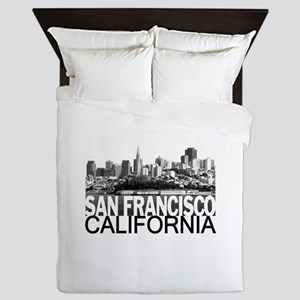 San Francisco Skyline Queen Duvet