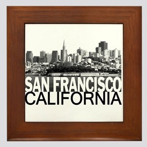 San Francisco Skyline Framed Tile