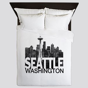 Seattle Skyline Queen Duvet