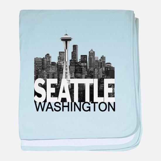 Seattle Skyline baby blanket
