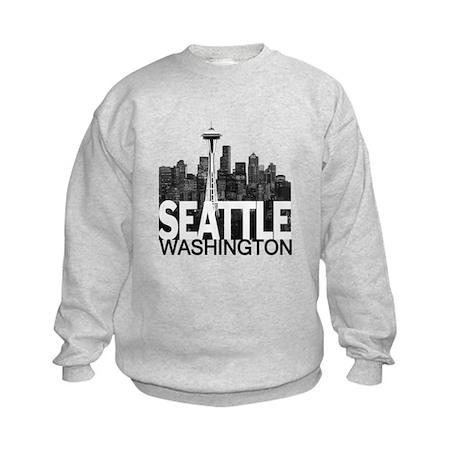 Seattle Skyline Kids Sweatshirt