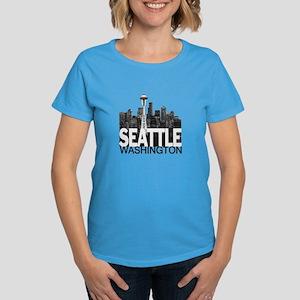 Seattle Skyline Women's Dark T-Shirt