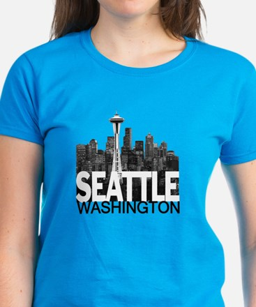 Seattle Skyline Women's Dark T-Shirt