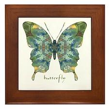 Abundance Butterfly Framed Tile