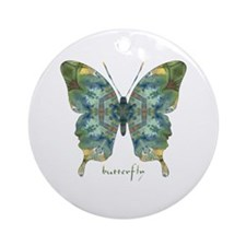 Abundance Butterfly Ornament (Round)