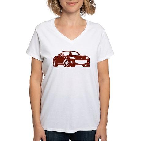 Copper Miata NC2 Women's V-Neck T-Shirt